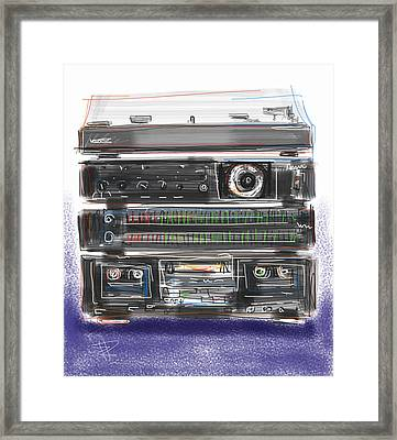 Crank It Up Framed Print by Russell Pierce