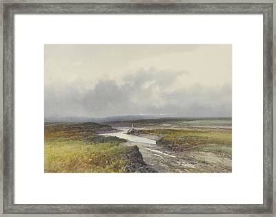 Cranmere Pool, Dartmoor Framed Print by Frederick John Widgery
