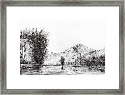 Crans  Switzerland Framed Print by Vincent Alexander Booth