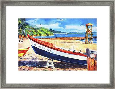Crash Boat Beach Framed Print by Estela Robles