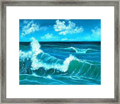 Crashing Wave Framed Print by Anastasiya Malakhova