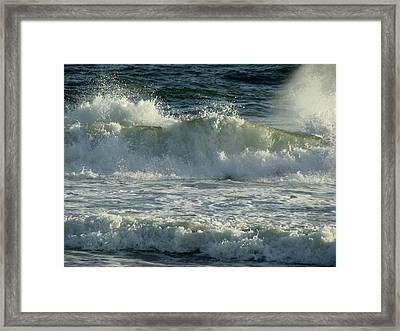 Crashing Wave Framed Print by Sandy Keeton