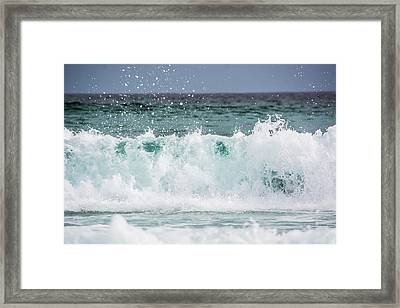 Crashing Waves Framed Print by Shelby  Young