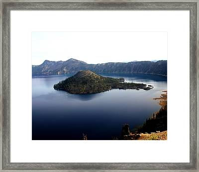 Crater Lake 2 Framed Print by Marty Koch