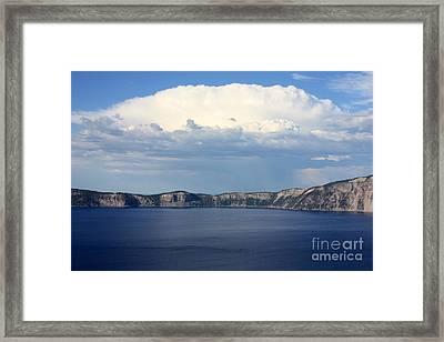 Crater Lake Framed Print by Carol Groenen