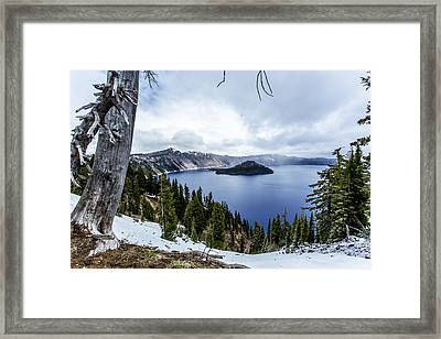 Crater Lake In Spring Framed Print by Michael Parks