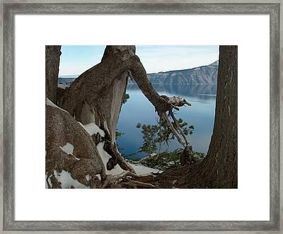 Crater Lake Framed Print by Lori Seaman
