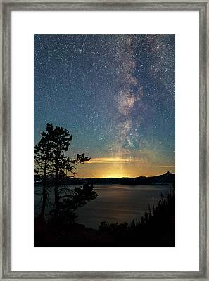 Crater Lake Milky Way Framed Print by Cat Connor