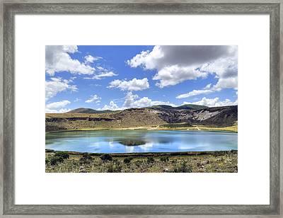 Crater Lake Narligol - Turkey Framed Print by Joana Kruse