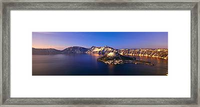 Crater Lake National Park, Oregon Framed Print by Panoramic Images