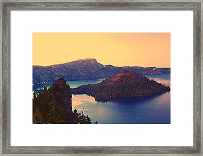 Crater Lake Framed Print by Steve Warnstaff