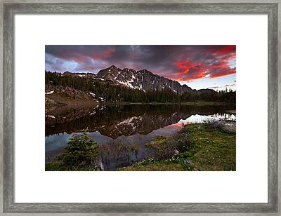 Crater Lake Sunset Framed Print by Guy Schmickle