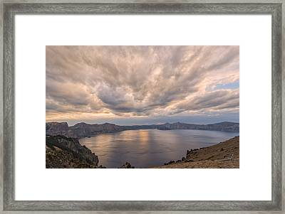 Crater Light Framed Print by Loree Johnson
