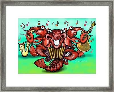 Crawfish Band Framed Print by Kevin Middleton