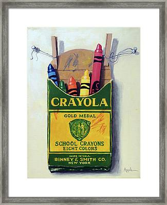 Crayola Crayons Painting Framed Print by Linda Apple