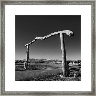 Crazy Arch Framed Print by Serge Chriqui