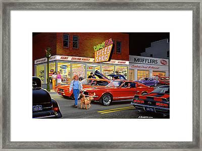Crazy Eds Framed Print by Bruce Kaiser