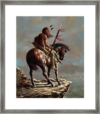 Crazy Horse_digital Study Framed Print by Harvie Brown