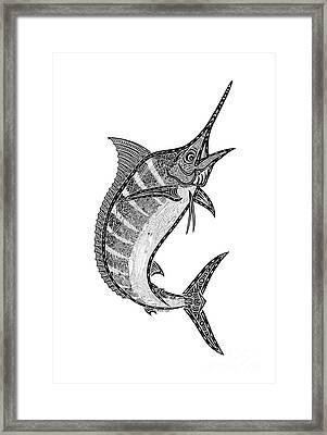 Crazy Marlin Framed Print by Carol Lynne