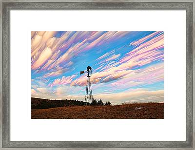 Crazy Wild Windmill Framed Print by Bill Kesler