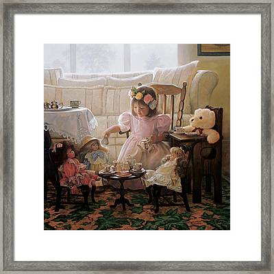 Bedroom Framed Print featuring the painting Cream And Sugar by Greg Olsen
