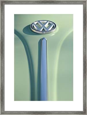 Cream Green Volkswagon Framed Print by Brian Mollenkopf