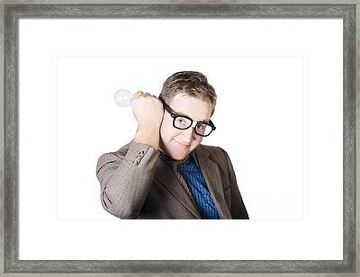 Create Business Ideas And Solutions Framed Print by Jorgo Photography - Wall Art Gallery