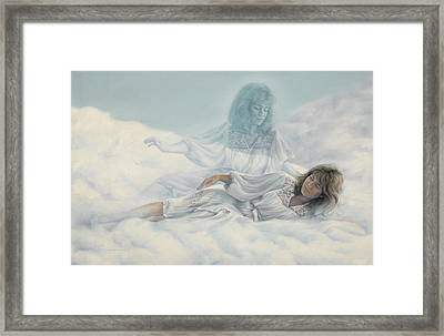 Creating A Body With Clouds Framed Print by Lucie Bilodeau