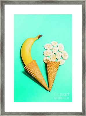 Creative Banana Ice-cream Still Life Art Framed Print by Jorgo Photography - Wall Art Gallery
