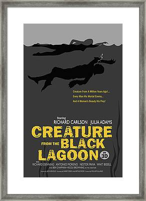 Creature From The Black Lagoon In 3d Framed Print by Ron Regalado