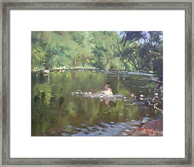 Credit River By Norval On Framed Print by Ylli Haruni