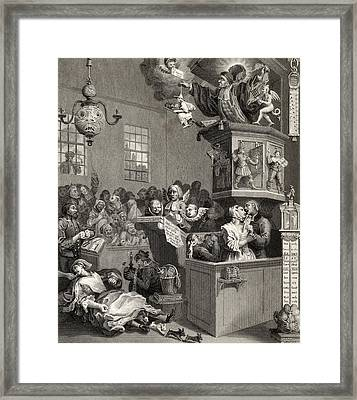 Credulity Superstition And Fanaticism Framed Print by Vintage Design Pics