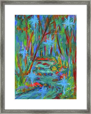 Creek Born Of Stars Stage One Framed Print by Kendall Kessler