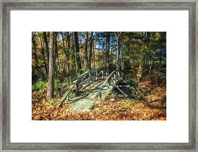 Creek Crossing Framed Print by Tom Mc Nemar