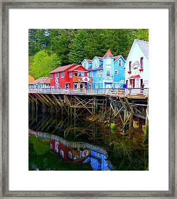 Creek Street 3 Framed Print by Randall Weidner