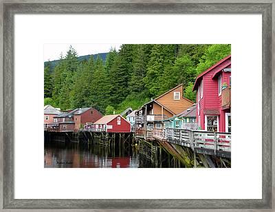 Creek Street Ketchikan Alaska Framed Print by Barbara Snyder