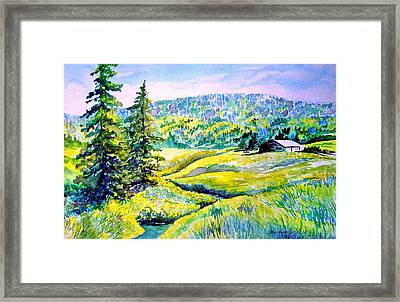 Creek To The Cabin Framed Print by Joanne Smoley