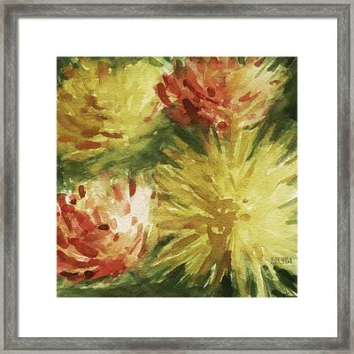 Cremon Mums Framed Print by Beverly Brown Prints