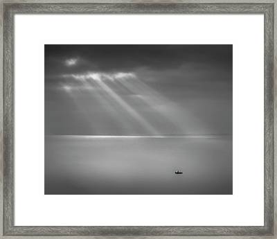 Crespecular Rays Over Bristol Channel Framed Print by Paul Simon Wheeler Photography
