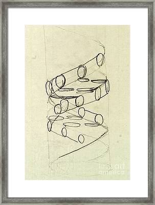 Cricks Original Dna Sketch Framed Print by Science Source