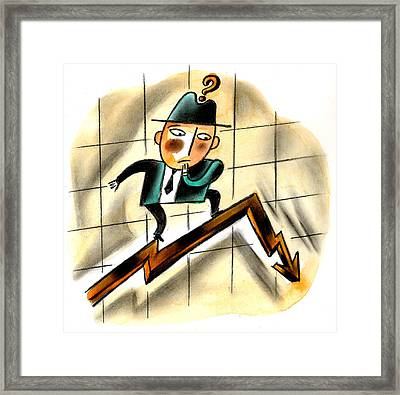 Crisis Framed Print by Leon Zernitsky