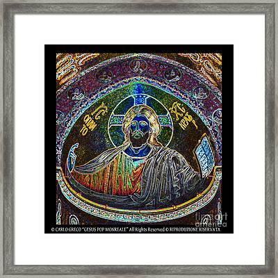 Cristo Framed Print by Carlo Greco
