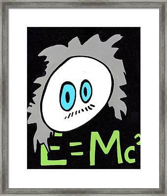 Cronkle Einstein Framed Print by Jera Sky