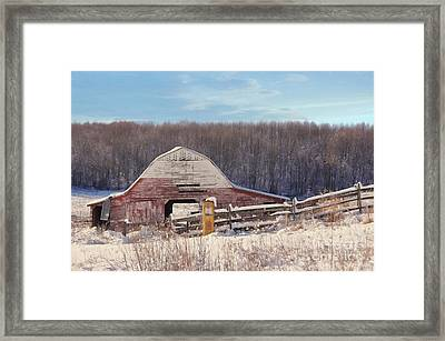 Crooked Fence Farm Framed Print by Benanne Stiens