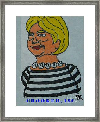 Crooked Hillary Framed Print by PK Fotografie