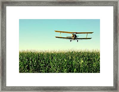 Crops Dusted Framed Print by Todd Klassy