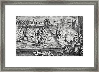 Croquet Framed Print by English School