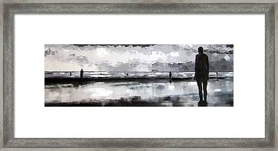 Crosby Statues At Twilight  Framed Print by Jennifer  Blenkinsopp