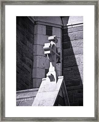 Cross At St. Johns Tralee Ireland Framed Print by Teresa Mucha