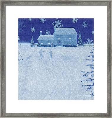 Cross-country  Framed Print by Jim Rehlin